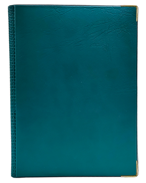 Corporate Portfolio Diary Quality PVC Green