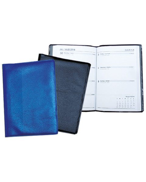 Pocket Diary Blue & Black